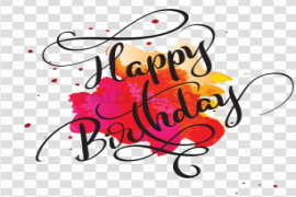 Happy Birthday Text PNG Transparent Picture