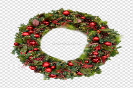 Christmas Wreath Download PNG Image