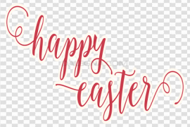 Happy Easter Logo Word Transparent PNG