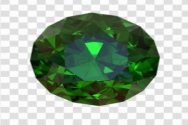 Round Emerald Stone PNG Transparent Image