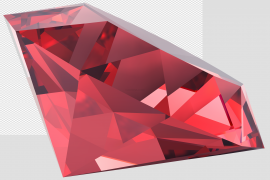 Red Ruby Gemstone PNG Pic