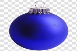 Blue Christmas Bauble PNG Photo