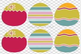 Decorative Colorful Easter Egg PNG Image