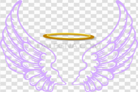 Angel Halo Wings PNG Transparent Image