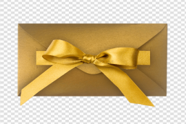 Gold Gift PNG Image