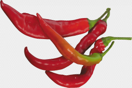 Fresh Green And Red Chilli PNG Image