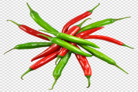 Fresh Green And Red Chilli PNG Clipart