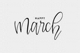 March PNG File