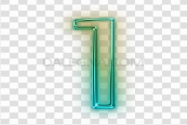 Neon Number PNG Photos