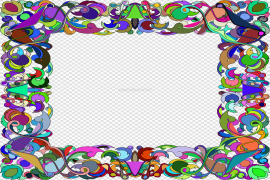 Abstract Frame Transparent PNG
