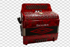 Red Accordion PNG Image