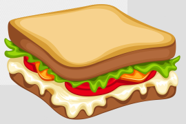 Bacon Cheese Sandwich PNG Image