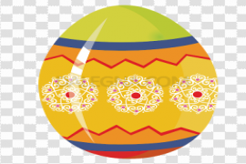 Yellow Easter Egg PNG Background Image