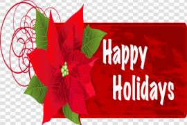 December Happy Holidays PNG Image