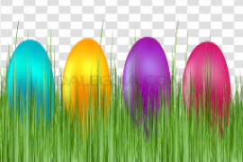 Grass Easter Egg Background PNG