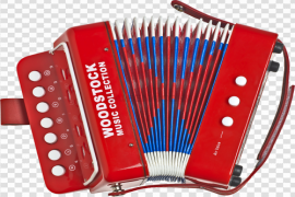 Red Accordion PNG File