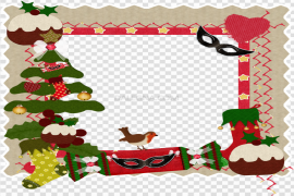 Santa Christmas Frame PNG Picture