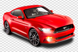 Red Ford Mustang PNG Transparent Image