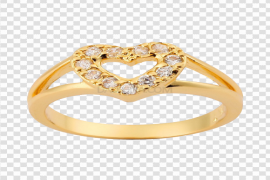 Gold Rings PNG Picture