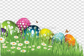 Grass Easter Egg PNG Picture