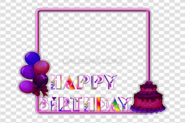 Birthday Frame PNG Clipart