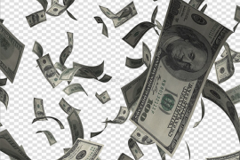 Falling Money PNG Picture