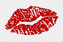 Red Kiss PNG Photos