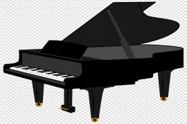 Grand Piano Keyboard Transparent Background