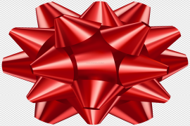 Red Gift Bow Transparent PNG