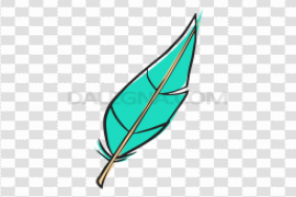 Blue Feather PNG Pic