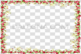 Red Flower Frame PNG Clipart