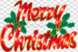 Merry Christmas Word PNG Pic