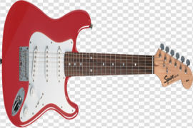 Red Electric Guitar Transparent Background