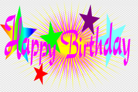 Happy Birthday Text PNG File