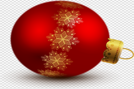 Red Christmas Ornaments PNG Transparent Image
