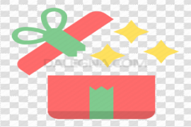 Open Christmas Gift PNG Image