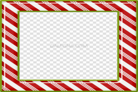 Square Christmas Frame PNG File