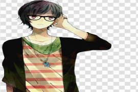 Aesthetic Anime Boy Transparent PNG