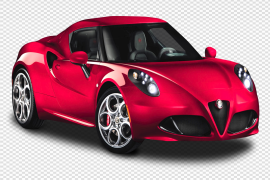 Red Alfa Romeo PNG Picture