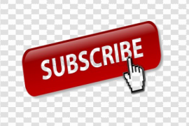 YouTube Subscribe Button PNG Clipart