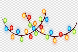 Xmas Lights PNG Picture
