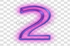 Neon Number Background PNG