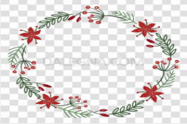 Watercolor Christmas Wreath PNG Clipart