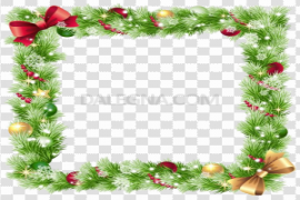 Square Christmas Frame Background PNG