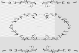 Garland Frame Vector PNG Clipart