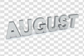 August PNG Image