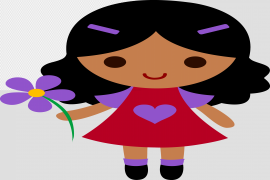 Cute Cartoon Girl PNG Transparent Picture