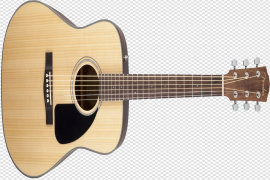 Wooden Acoustic Guitar PNG