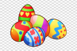Colorful Easter Eggs PNG Image