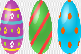Colorful Easter Eggs PNG HD